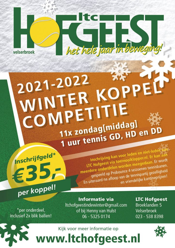 Ltc Hofgeest winter koppel competitie 2021-2022